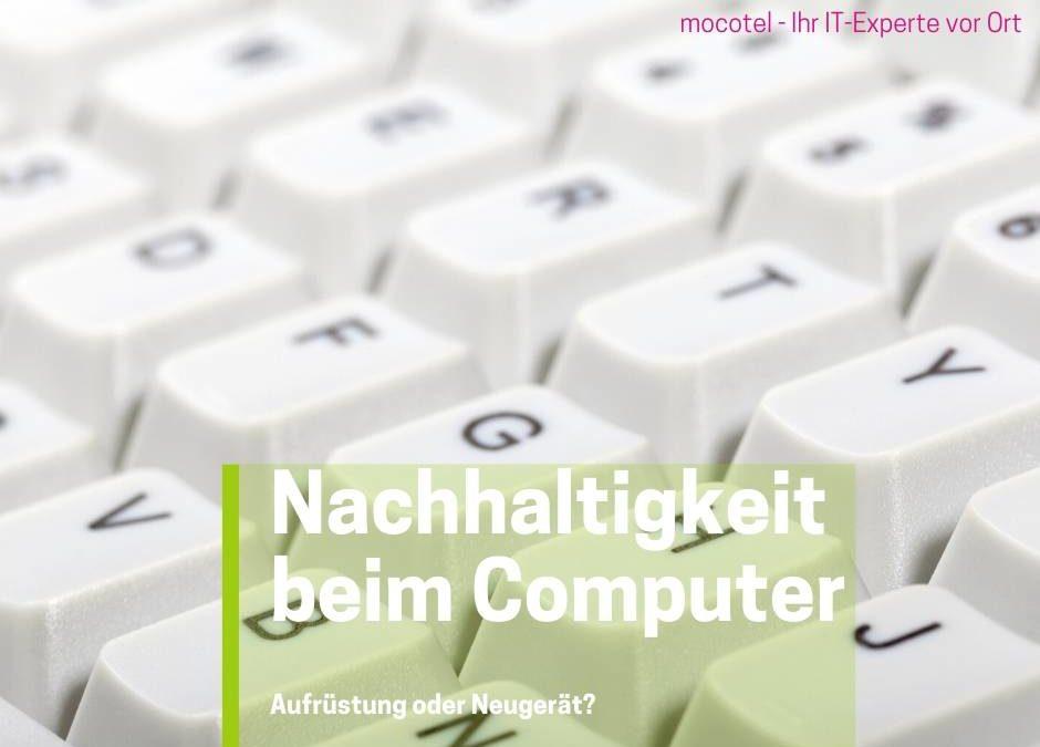 NACHHALTIGKEIT BEIM COMPUTER